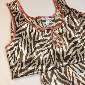 Lane Bryant Pink Leopard Short Pajamas, Size 22/24